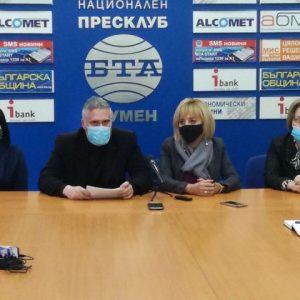 Мая Манолова в Шумен: За промяната са необходими обединени усилия