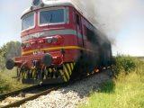 Спасиха от опожаряване локомотив на влак на ЖП гара Мътница