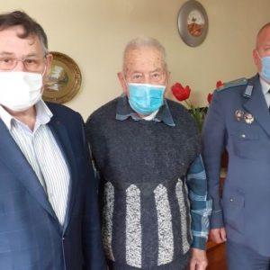 Ветеранът д-р Велчо Радев навърши 99 години